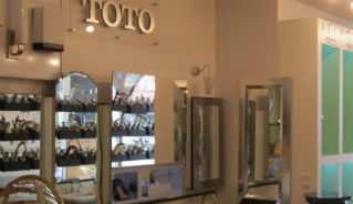 Toto display at the Focal Point Showroom