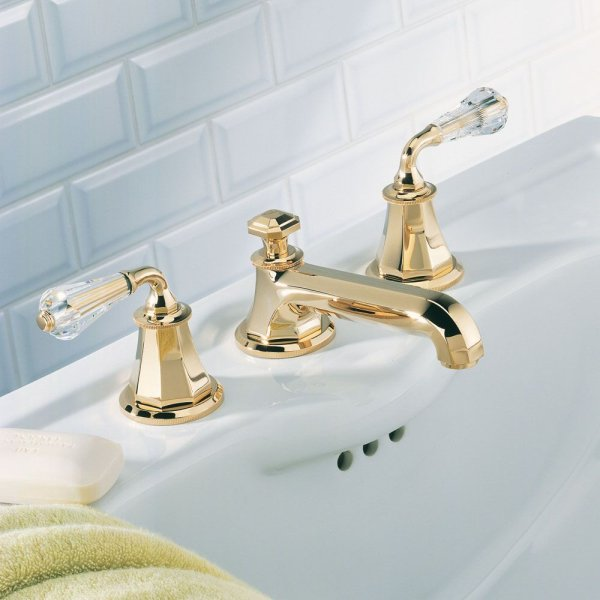 A56/151 THG Paris Traditional Art Deco Cristal Widespread Faucet ...