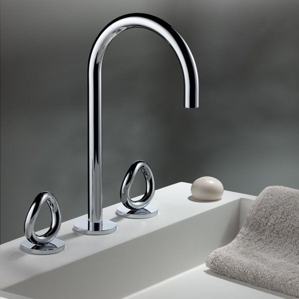 "G4P/151 THG Paris Contemporary Collection ""O"" Widespread Faucet"