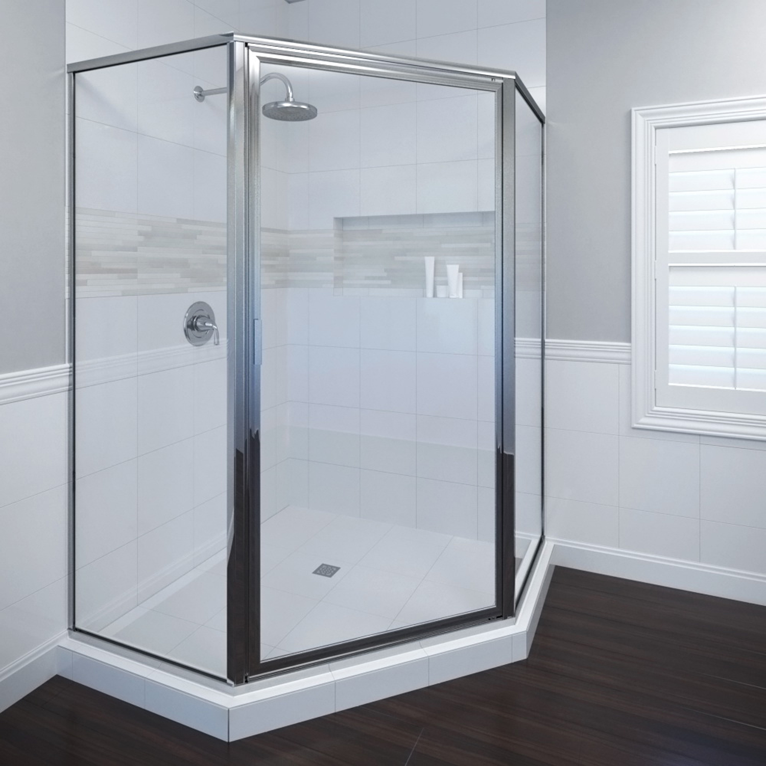 Basco 160lsbcl Deluxe Neo Angle Shower Enclosure With