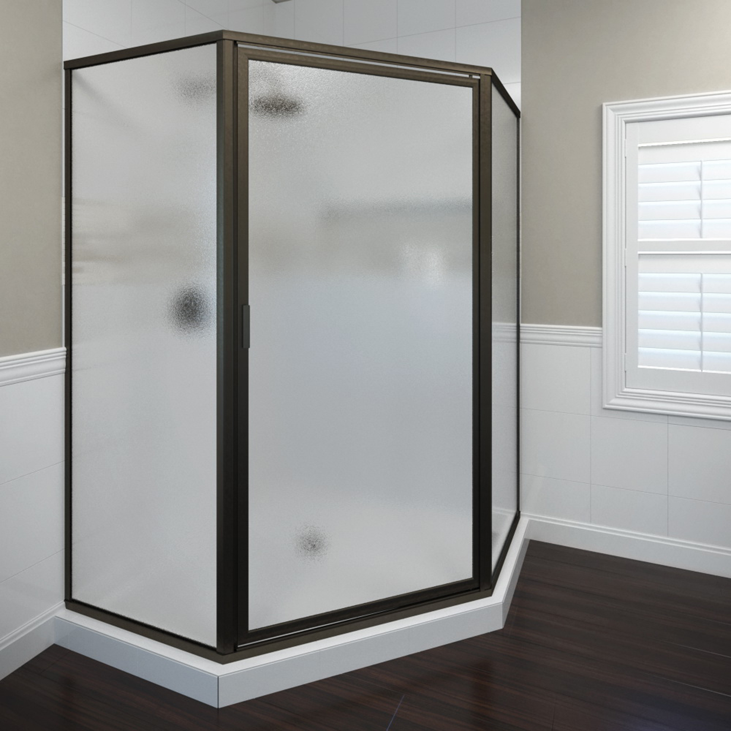 Basco 160jor 49 88 Deluxe Neo Angle Shower Enclosure With