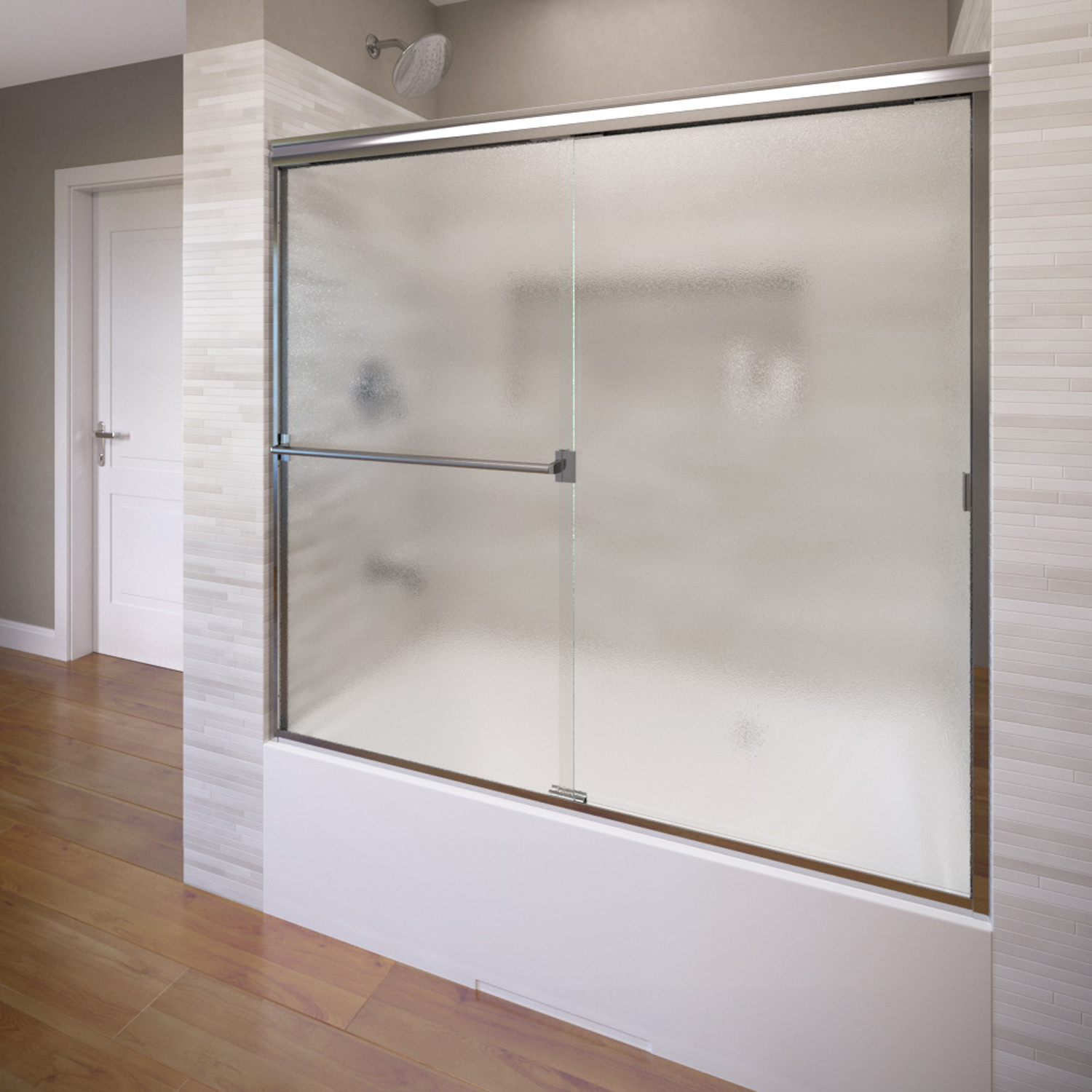 Basco 3400 60 60 Classic Sliding Shower Enclosure With Obscure Glass
