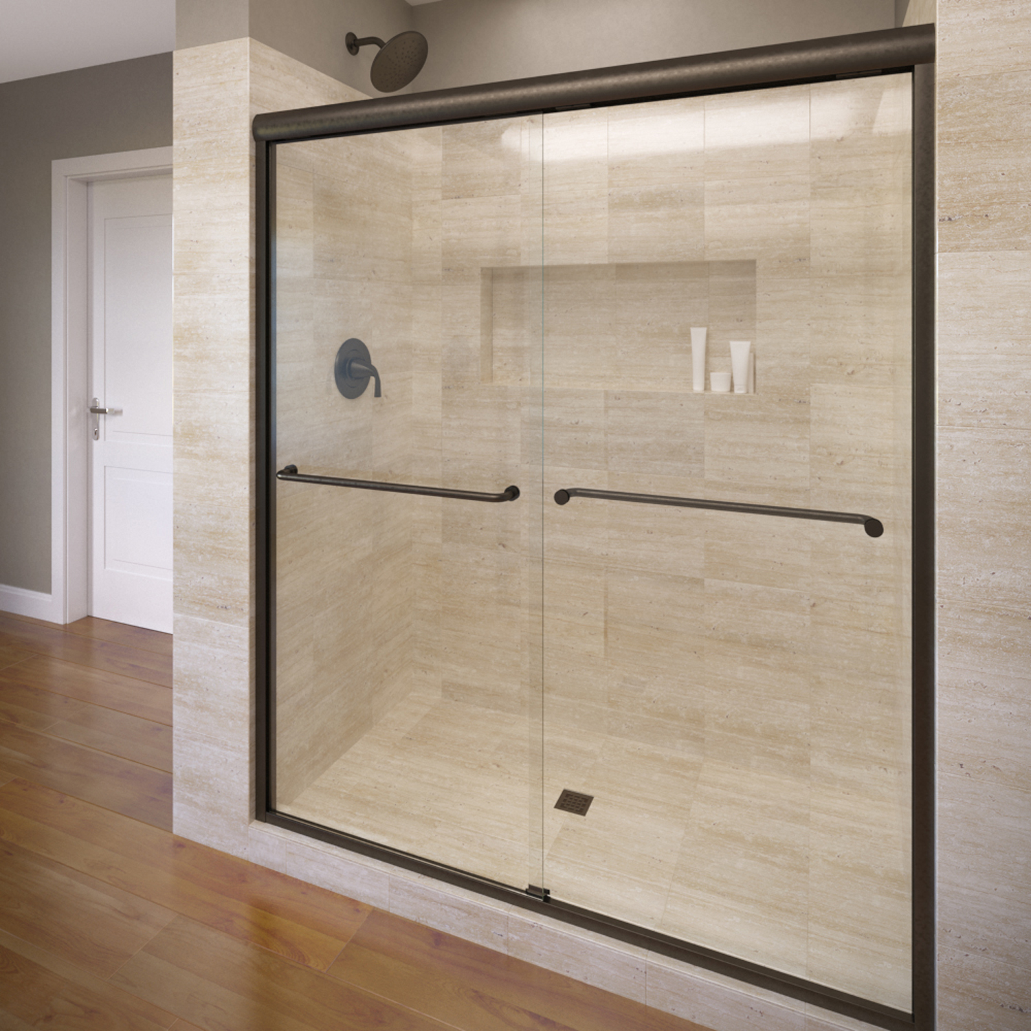 Basco 3850 48clor 48 Celesta Sliding Shower Enclosure With
