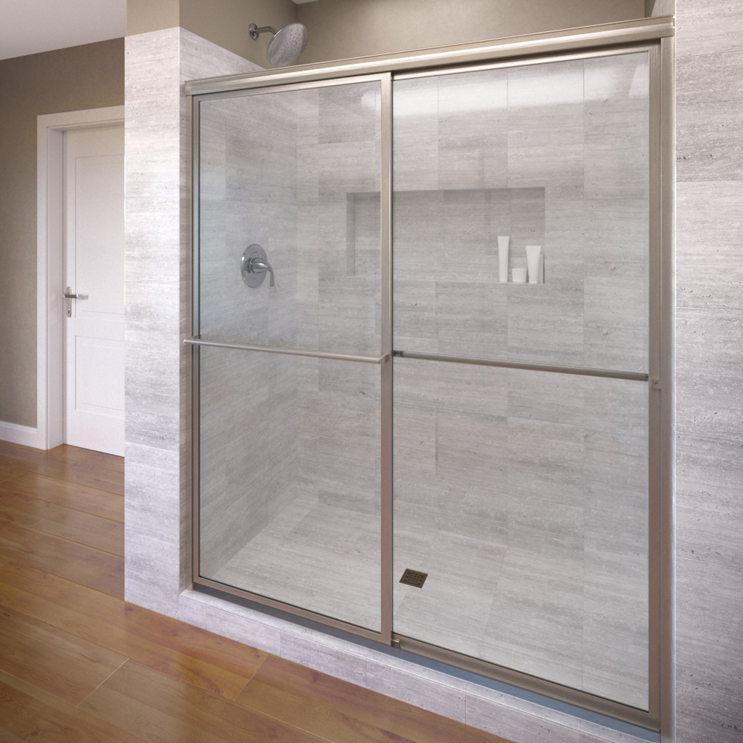 Basco 7150 48clbn 48 Deluxe Sliding Shower Enclosure With