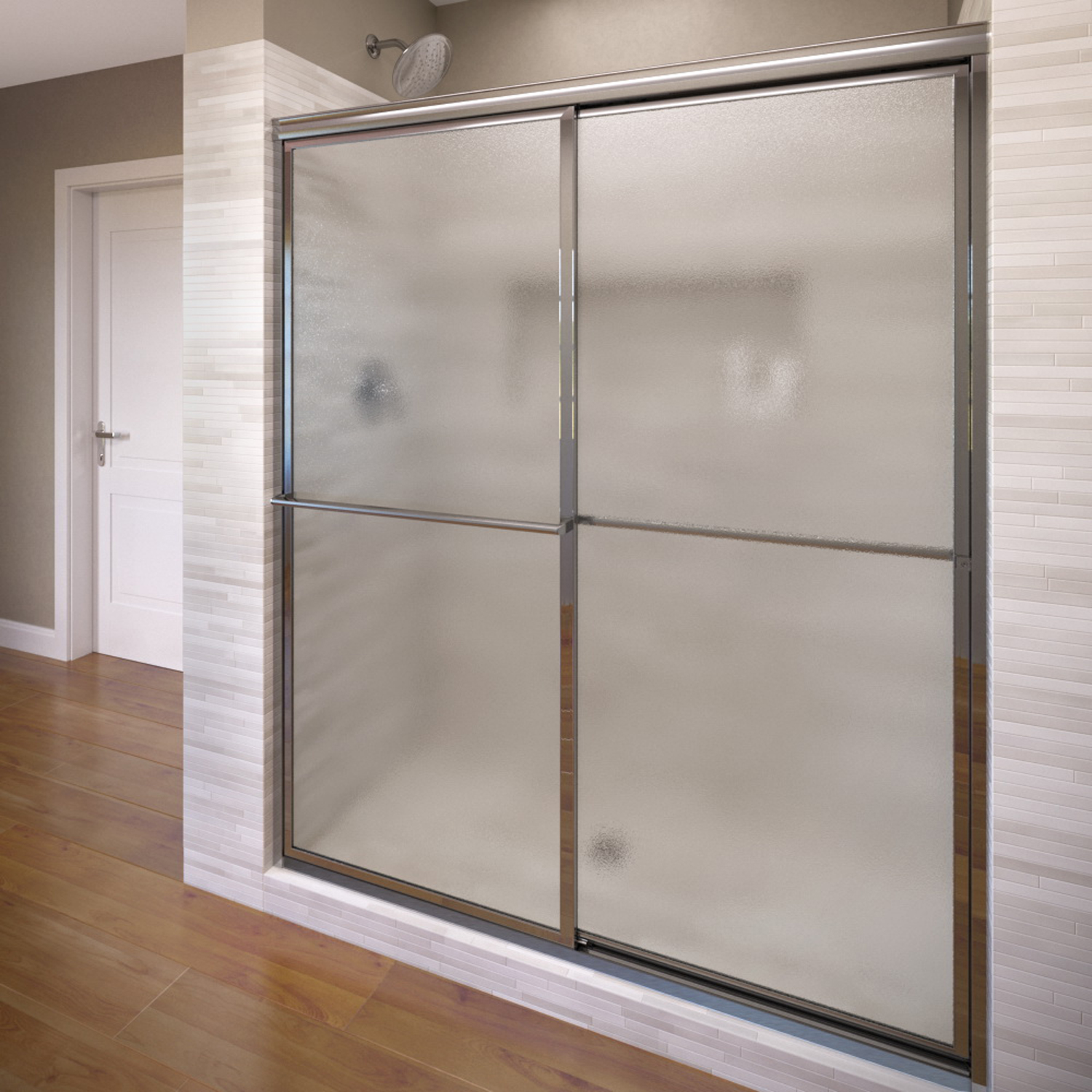 Basco 7150 60 60 Deluxe Sliding Shower Enclosure With Obscure Glass