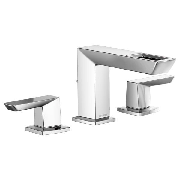 Brizo 65386LF-PC-ECO Vettis Widespread Lavatory Faucet with Open Flow Spout - Chrome