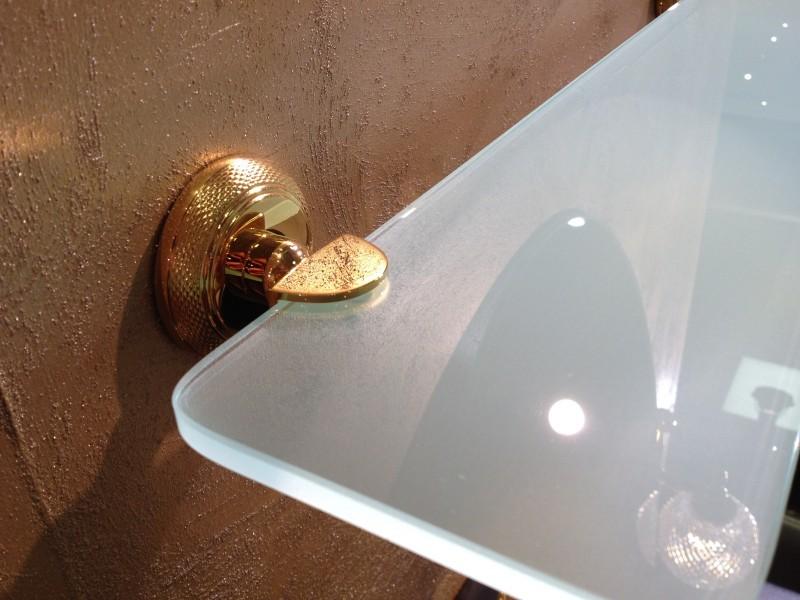 cristal et bronze 1765 cisele shelf holder glass shelf. Black Bedroom Furniture Sets. Home Design Ideas