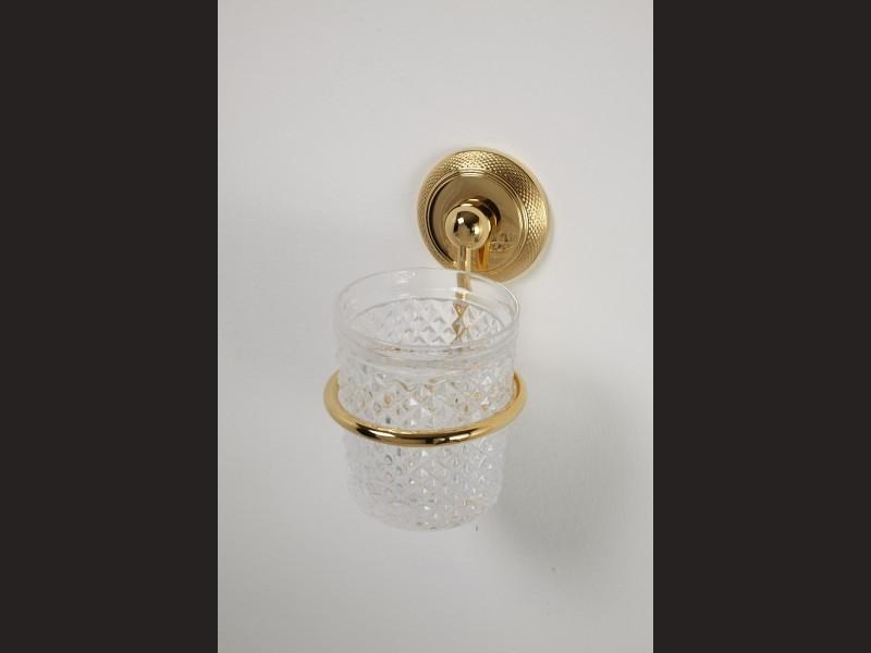 cristal et bronze 1775 cisele wall mounted glass holder. Black Bedroom Furniture Sets. Home Design Ideas