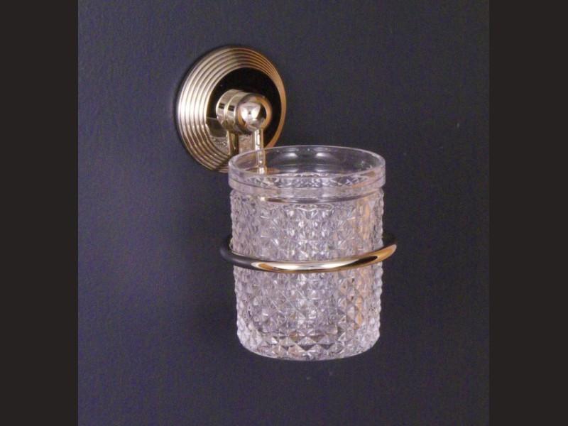 cristal et bronze 2075 cannele wall mounted glass holder. Black Bedroom Furniture Sets. Home Design Ideas
