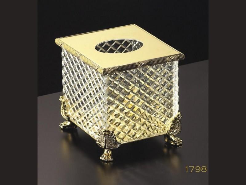 cristal et bronze 30095 crystal d cut square freestanding. Black Bedroom Furniture Sets. Home Design Ideas