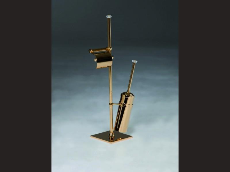 cristal et bronze 30165 pot brush and trash freestanding. Black Bedroom Furniture Sets. Home Design Ideas
