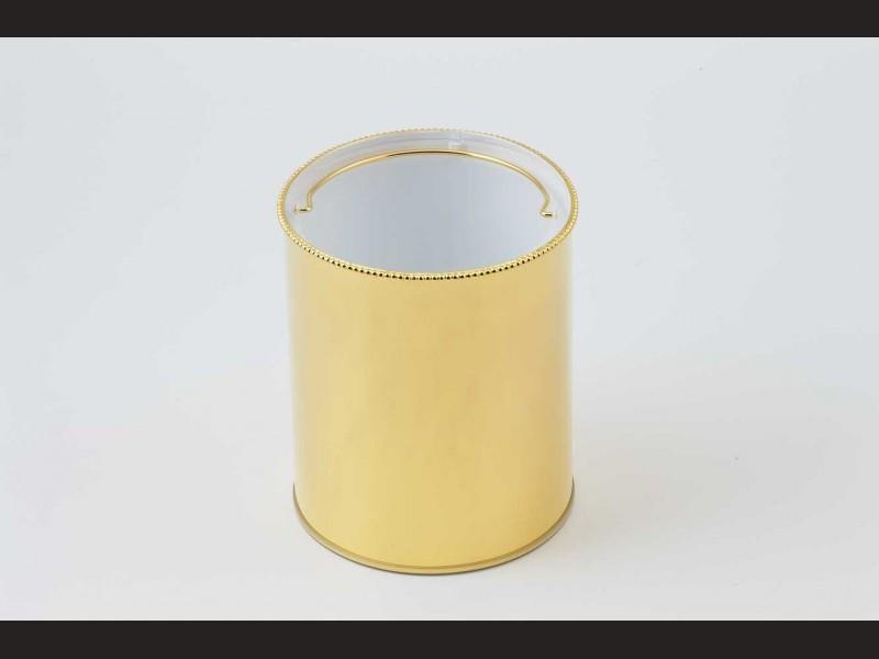 cristal et bronze 30201 pot brush and trash bin pearl edge. Black Bedroom Furniture Sets. Home Design Ideas