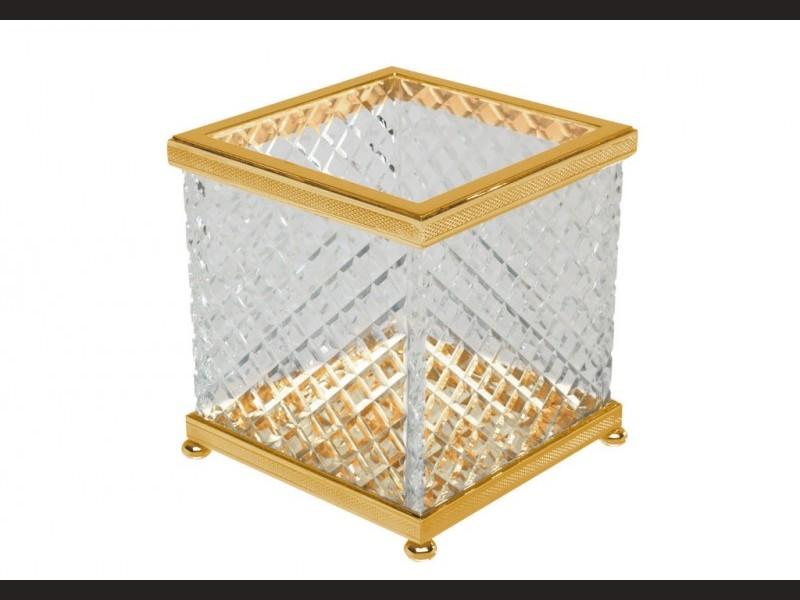 cristal et bronze 30215 crystal d cut guest tissue. Black Bedroom Furniture Sets. Home Design Ideas