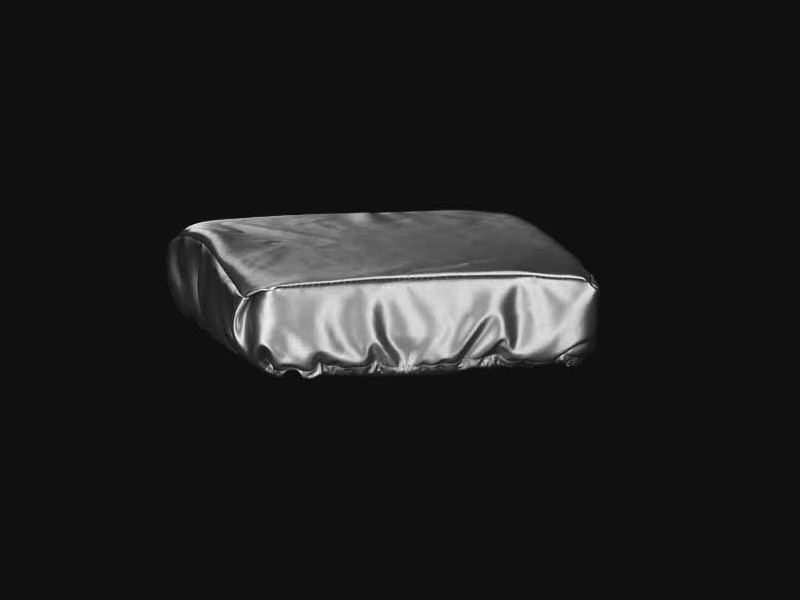 cristal et bronze 30654 silver skai cover for square stool. Black Bedroom Furniture Sets. Home Design Ideas