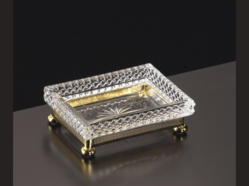 cristal et bronze 31457 holder soap and tumbler