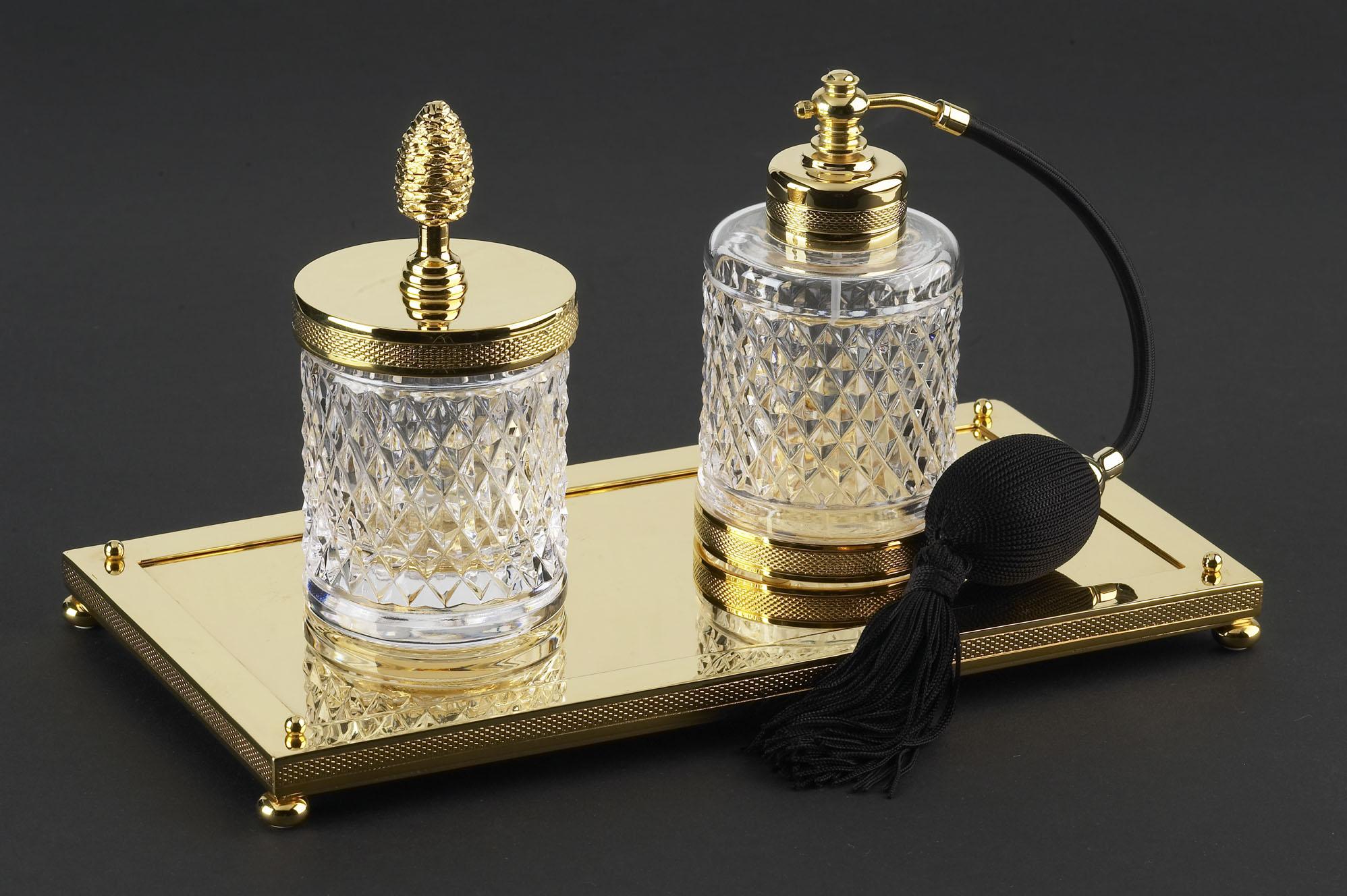 cristal et bronze 31516 tea pots cotton rectangular tray. Black Bedroom Furniture Sets. Home Design Ideas
