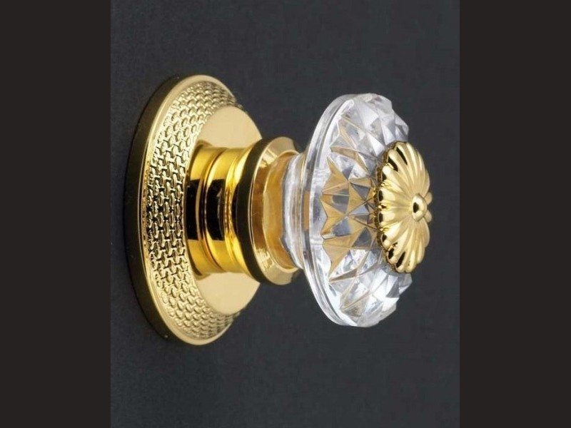 cristal et bronze 33425 palmette cristal door knob and. Black Bedroom Furniture Sets. Home Design Ideas