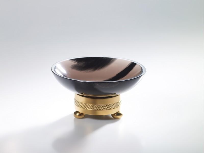 cristal et bronze 36460 obsidian round soap dish chiseled. Black Bedroom Furniture Sets. Home Design Ideas