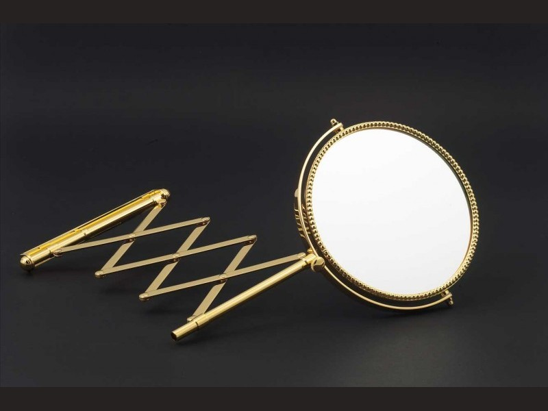 Cristal et bronze 41001 miroir extensible mirror double for Miroir double face