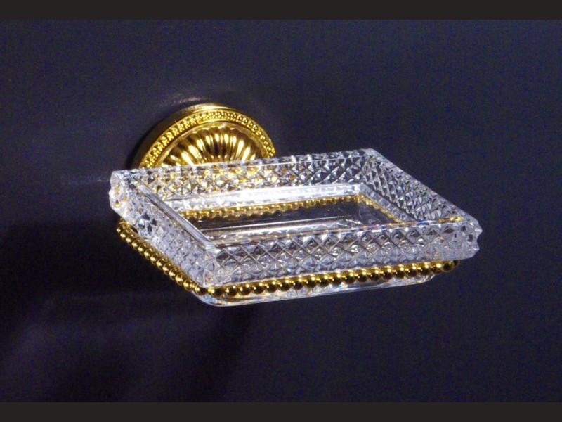 cristal et bronze 4155 etoile de paris wall mounted soap. Black Bedroom Furniture Sets. Home Design Ideas