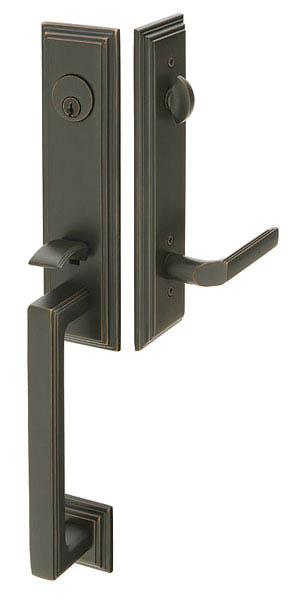 Emtek 4211 Wilshire Brass Tubular Entry Set 4211 Focal