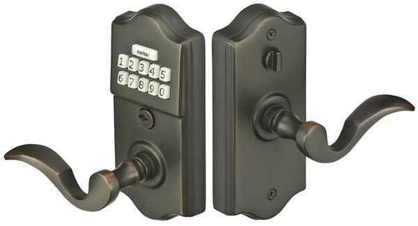 Emtek E2000 Electronic Keypad Leverset E2000 Focal