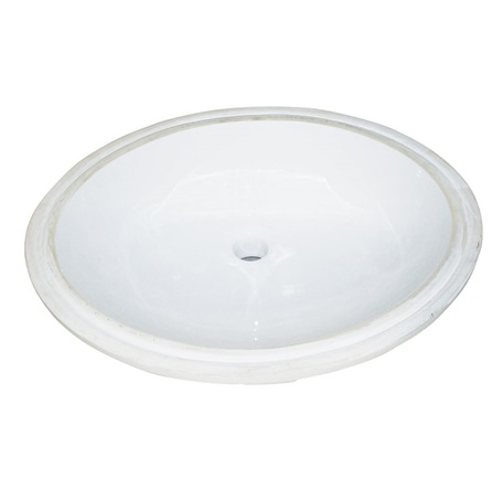Fairmont S-100WH Sinks White Oval Ceramic Undermount Sink