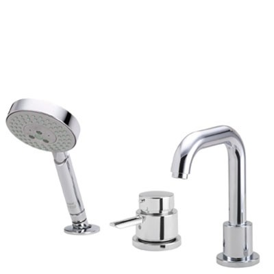 Hansgrohe 04128000 Focus S 3-Hole Thermostatic Tub Filler Trim ...