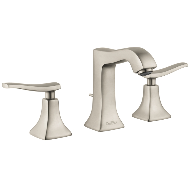 Hansgrohe 31073821 Metris C Widespread Faucet Brushed Nickel 31073821 Focal Point Hardware