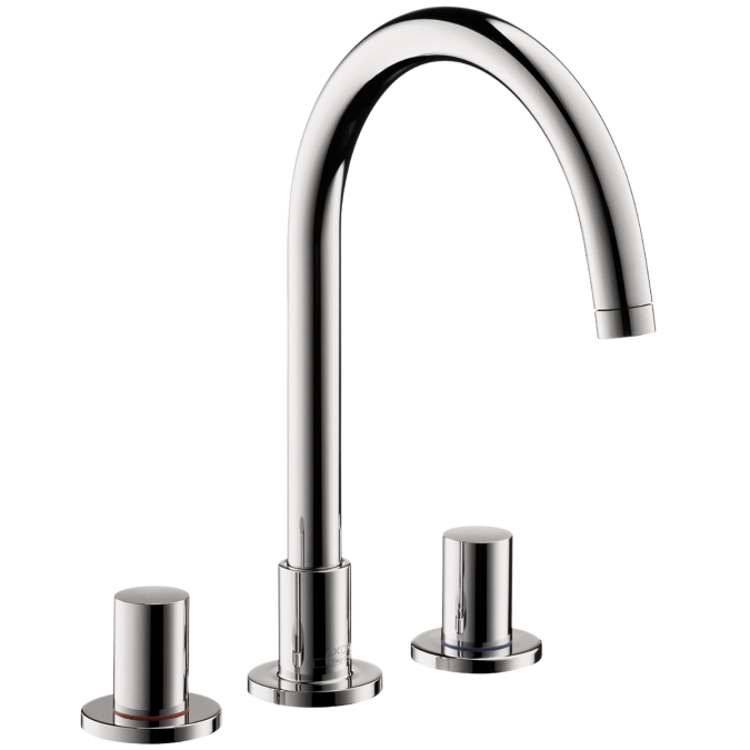 hansgrohe 38053001 axor uno widespread faucet chrome. Black Bedroom Furniture Sets. Home Design Ideas