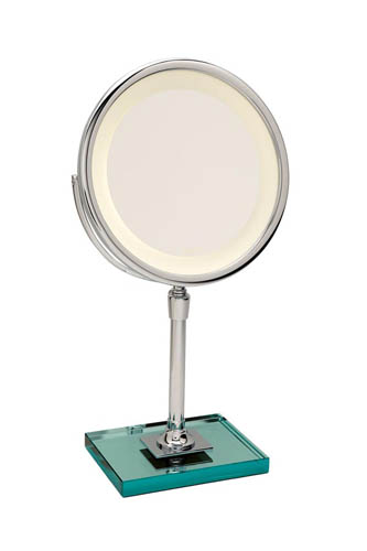 Miroir brot elegance c 24 on a glass base t24 22a1 for Miroir brot paris