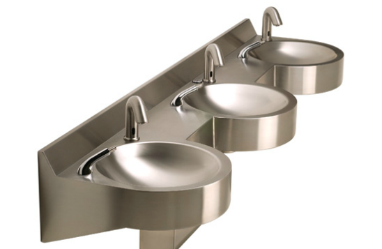 Neo-Metro 8980-3 Curved Front Stainless Steel Wash Basin