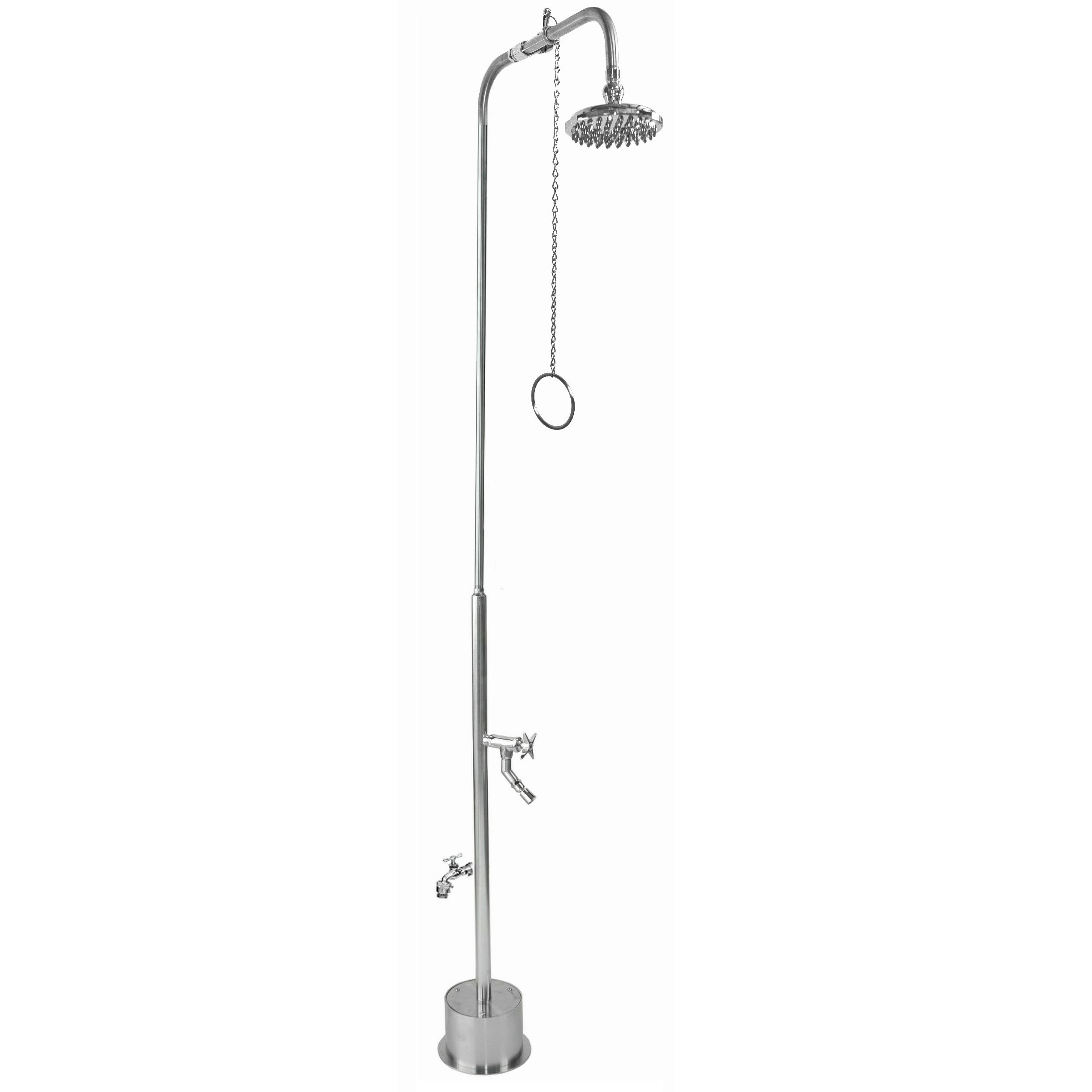 Outdoor Shower Company BS-2000-PCV-CHV Free Standing Single Supply Shower