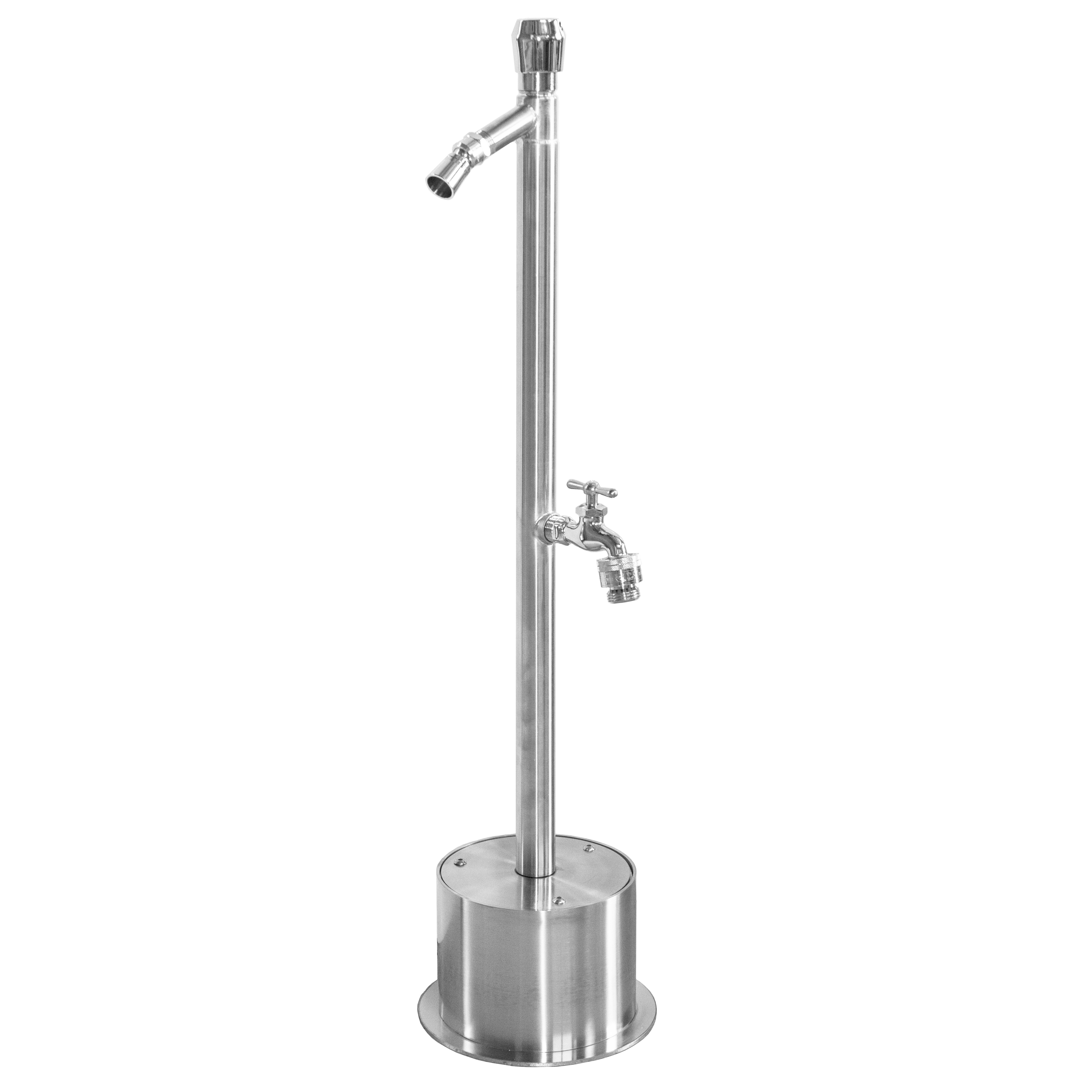 Outdoor Shower Company FSFSHB-300-ADA Free Standing Single Supply ADA Metered Foot Shower, Hose Bibb