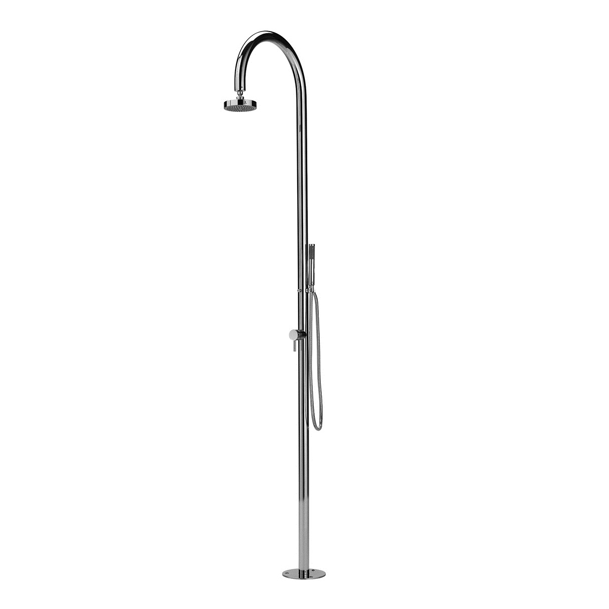 Outdoor Shower Company FTA-C50-CHS Single Supply Shower Unit