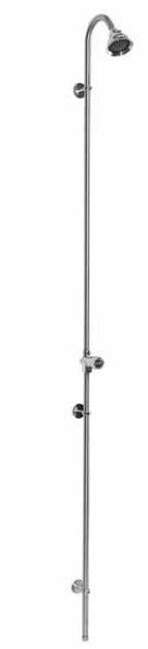 Outdoor Shower Company PM-250-ADA Wall Mount Single Supply Shower