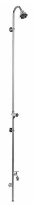 Outdoor Shower Company PM-500-ADA Wall Mount Single Supply Shower