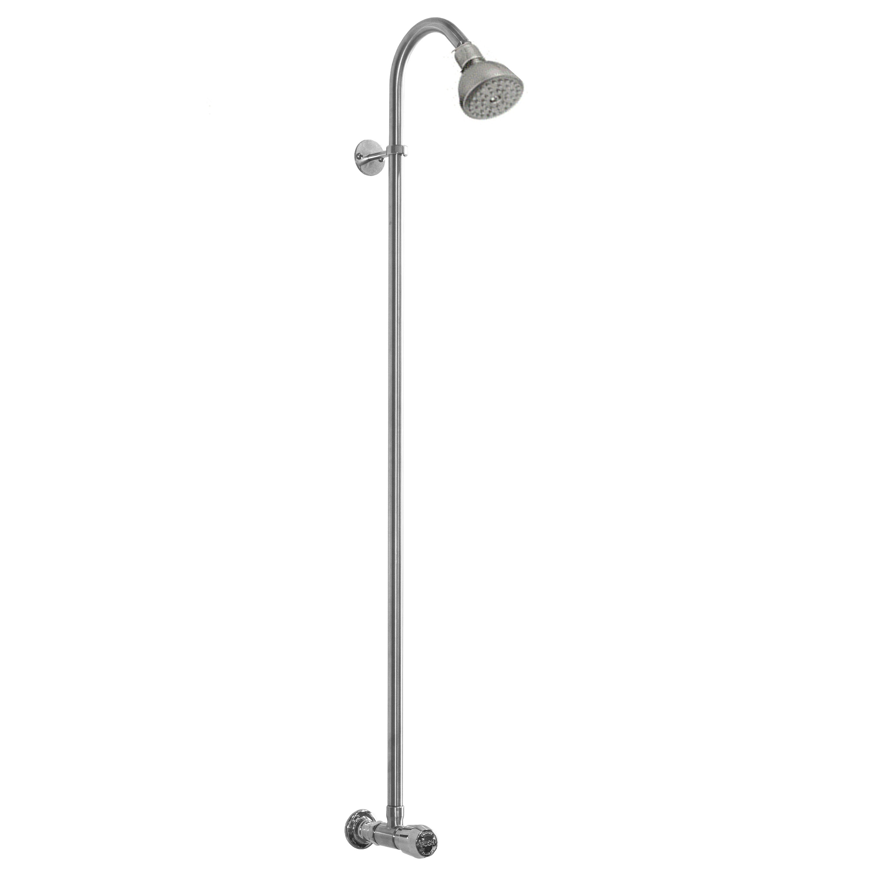 Outdoor Shower Company WM-442-ADA Wall Mount Single Supply Shower