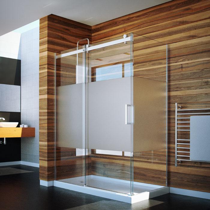 Slik Portfolio FLOW-4840-41-3 Flow 48 x 40 Corner Shower Door with ...