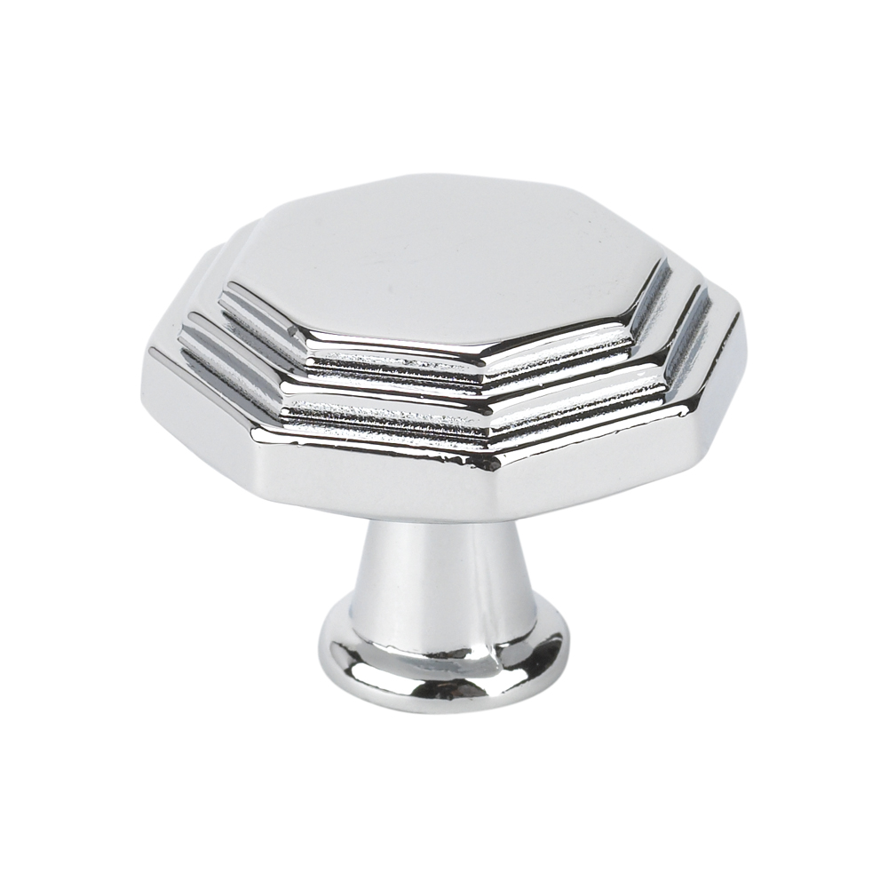 Beeswax Octagonal Cabinet Knobs Small: Topex Hardware 10819B40 Octagon Cabinet Knob - Chrome [10819B40]