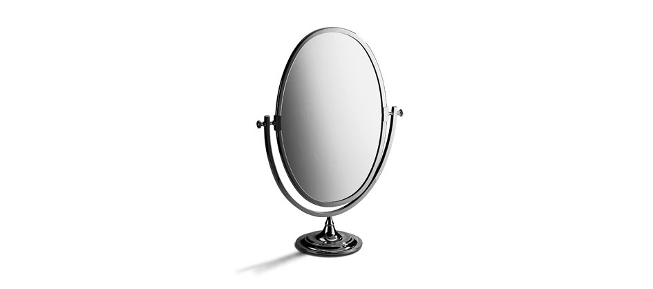 Samuel Heath L106 Freestanding Oval Mirror without Magnification