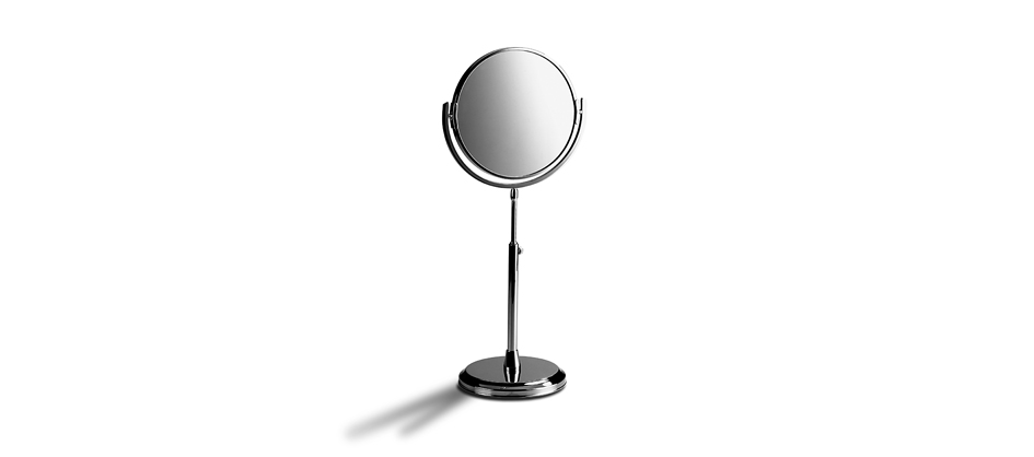 Samuel Heath L107 Freestanding Reversible Round Mirror