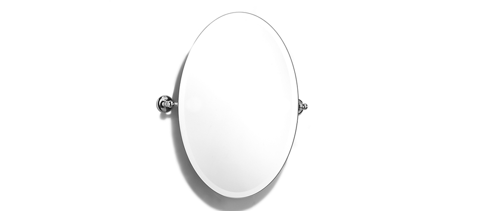 Samuel Heath L1146-XL Classic Oval Tilting Mirror