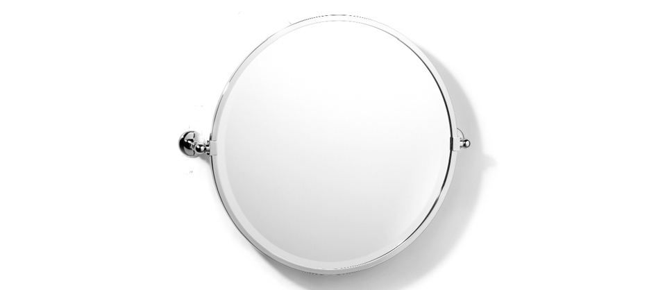 Samuel Heath L1148 Classic Round Framed Bevelled Tilting Mirror