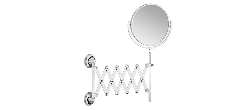 Samuel Heath L6708 Style Moderne Plain/Magnifying (X5) Extending Mirror
