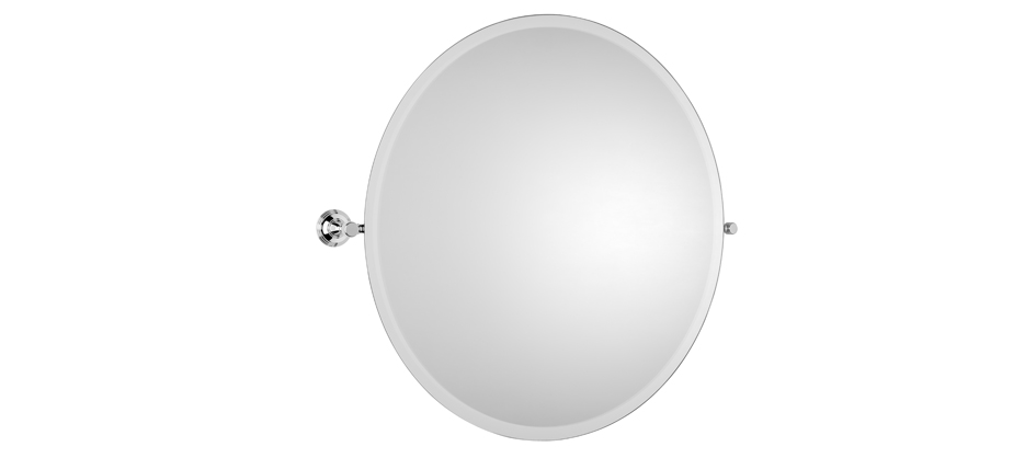 Samuel Heath L6745-XL Style Moderne Round XL Tilting Mirror