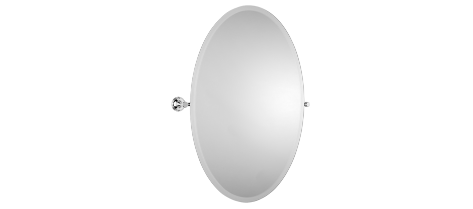 Samuel Heath L6746-XL Style Moderne Oval XL Tilting Mirror