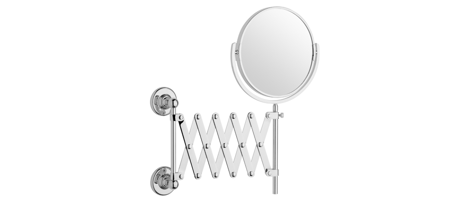 Samuel Heath N4308 Antique Extending Plain and Magnifying Mirror