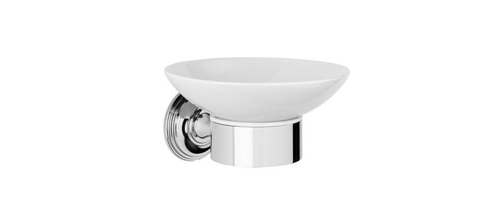 Samuel Heath N6634W Style Moderne White Soap Holder