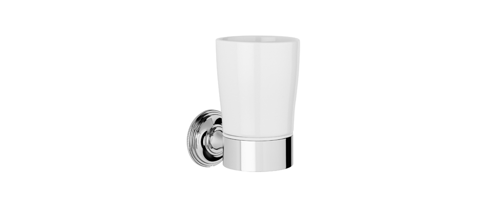 Samuel Heath N6635W Style Moderne White Tumbler Holder